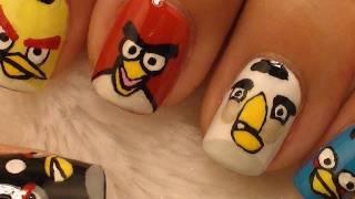 Angry Birds Nail Art / Diseño de Pájaros enojados