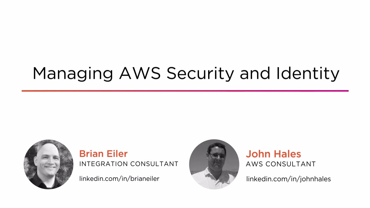 Managing AWS Security and Identity | Pluralsight