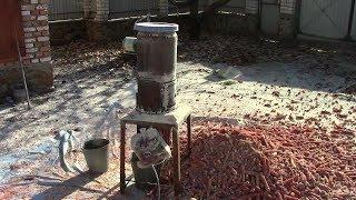 Электротеребилка початков кукурузы , на основе зернодробилки ( ДКУ ) , собрана своими руками.