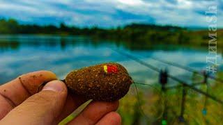 Одиночная рыбалка с ночёвкой. КАРП и КАРАСЬ на ФИДЕР. Флэт метод фидер. Простая прикормка на карася.