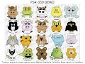 PSR-330 demo song list with funny cartoon animal icons