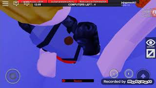 Playing, ROblox with my friends flethe CET