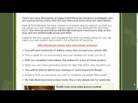 DIY Solar Power Panels Wind Turbines Renewable Energy Money Saving Tips Energy Saving Tips