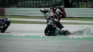 Motogp Silverstone accident Andrea Dovi with Fabio Quartararo