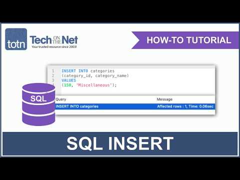 SQL: INSERT Statement