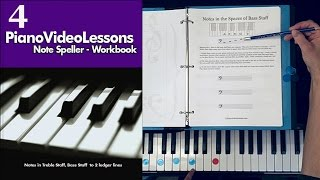 Note Speller for Piano Lesson 4:  Reading Bass Clef Spaces | Free Piano Lessons
