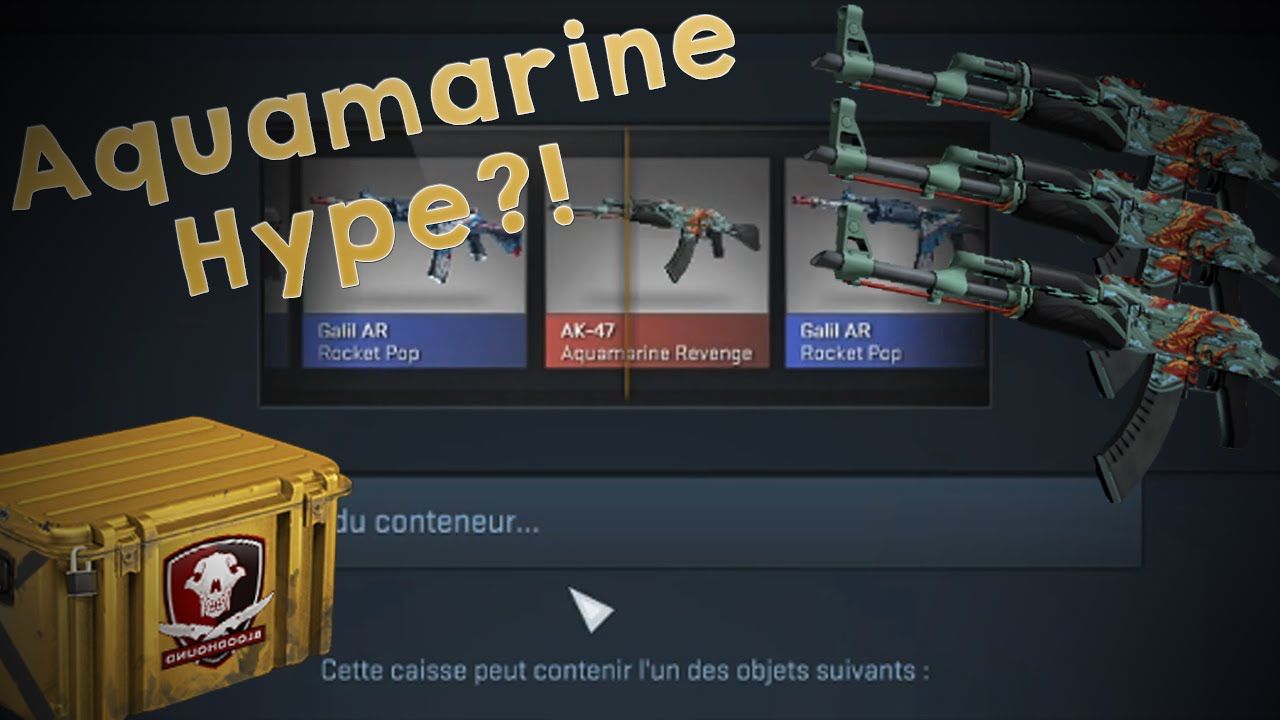 aquamarine hype ouverture de caisse cs go youtube. Black Bedroom Furniture Sets. Home Design Ideas