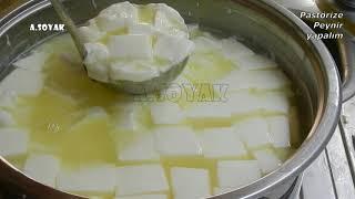 Evde pastörize peynir yapımı (07.08.2018)