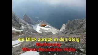 Zugspitze über die Wiener-Neustädter-Hütte und den Stopselzieher Klettersteig (Westgrat)
