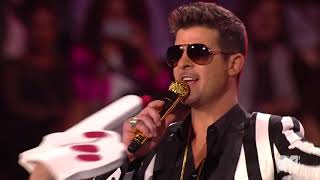 Miley Cyrus & Robin Thicke - We Can't Stop/Blurred Lines Live At MTV VMA 2013