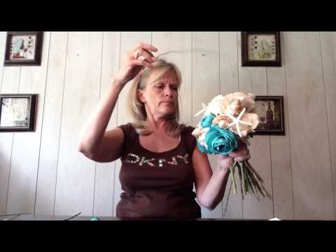 How To Make A Seashell Bridal Wedding Bouquet