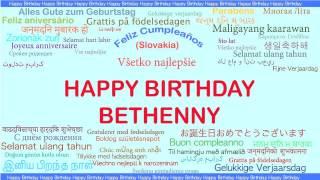 Bethenny   Languages Idiomas - Happy Birthday