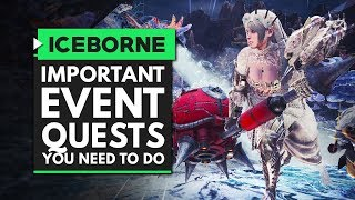 Monster Hunter World Iceborne | Most Important Event Quests You Need to Do - Appreciation Festival