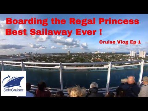 Boarding the Regal Princess January 2018 - SoloCruiser Cruise Vlog Ep 1