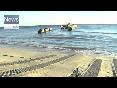 Royal Navy Amphibious Landing Exercise at Eastern Beach