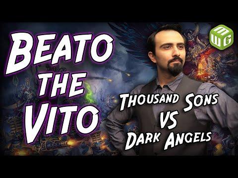 Thousand Sons Vs Dark Angels Warhammer 40k Battle Report - Beato The Vito Ep 7