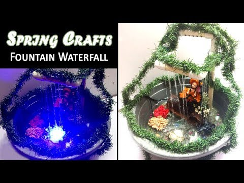 DIY Waterfall Using PVC Pipe - How to make a Waterfall Pool - Spring Crafts