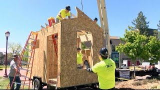 University Of Denver Students Speed Build Tiny House For The Homeless