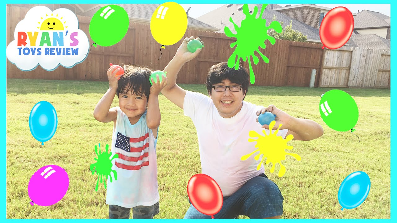 Color water balloons fight outdoors activities for kids for Fun things to do with water balloons