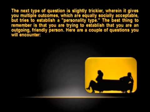 How To Pass A Pre-Employment Personality Test Part 1