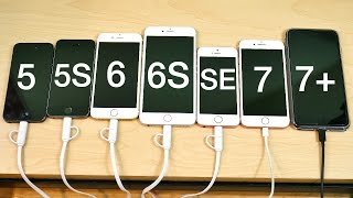 iPhone 5 vs iPhone 5S vs iPhone 6 vs iPhone 6S vs iPhone SE vs iPhone 7 vs iPhone 7 Plus iOS 10.3