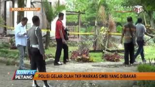 Polisi Gelar Olah TKP Markas GMBI Yang Dibakar