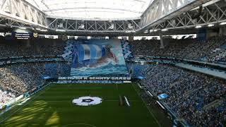 Смотреть видео Гимн России. Матч Зенит-Арсенал(Тула) . Стадион Санкт Петербург онлайн