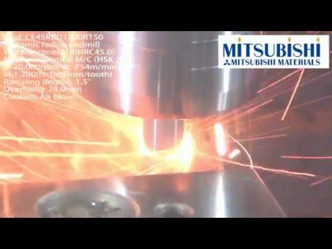 Mitsubishi Materials CE4SRB Ceramic End Mill Helical Interpolating Inconel®718