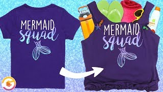 Mermaid T-shirt Beach Bag DIY