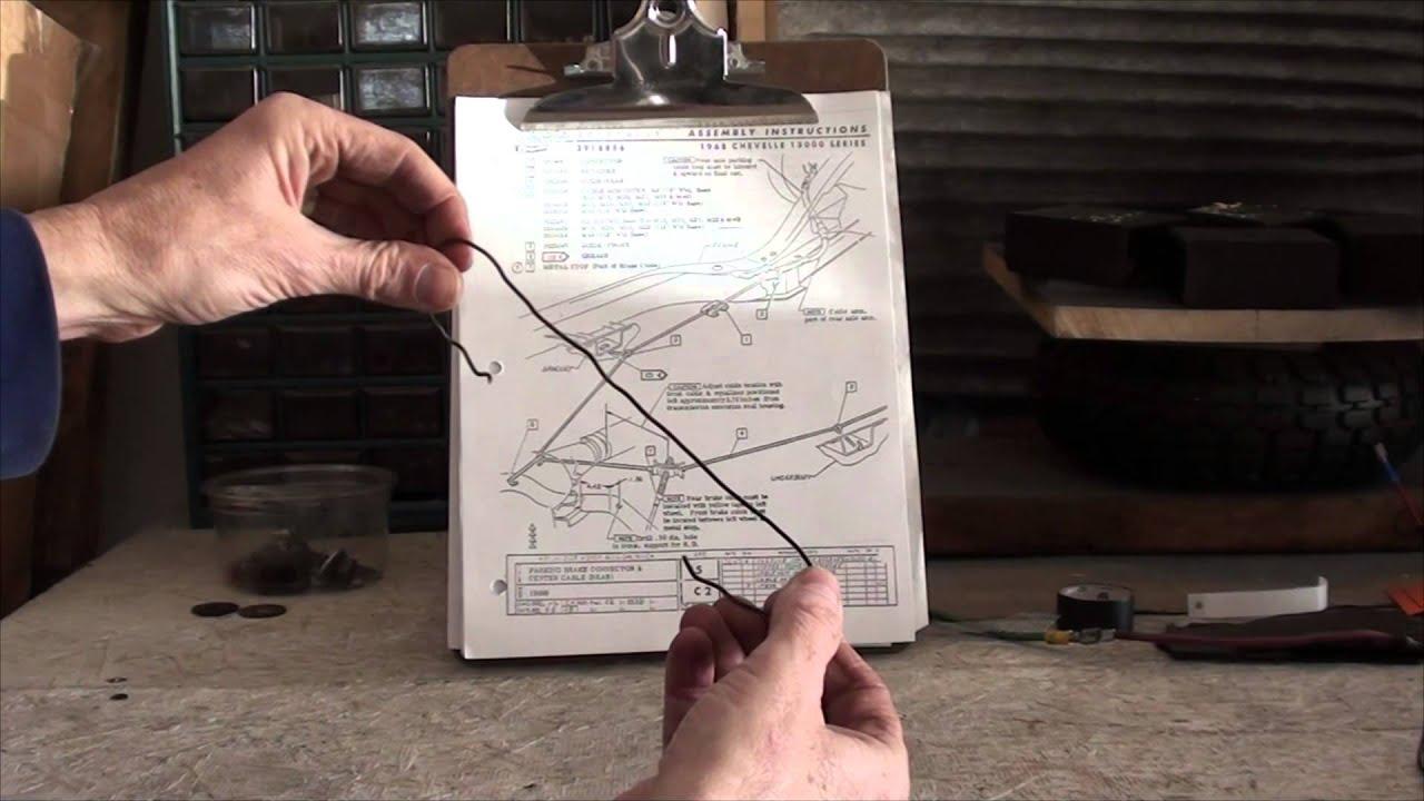 1968 chevelle t56 6 speed installation part 8 parking brake changes