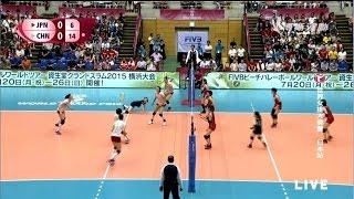 《2015世界女排大奖赛》日本站 日本vs中国