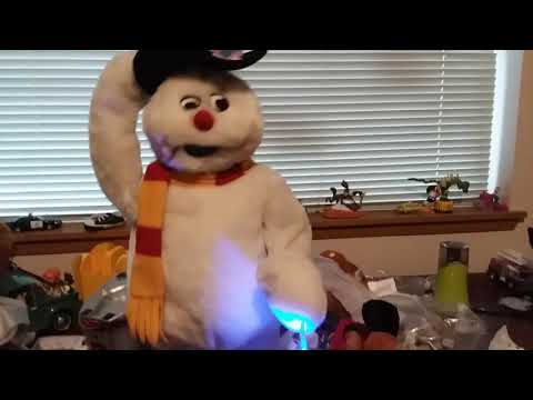 My snowflake spinning Frosty the Snowman his snowflakes are now destroyed