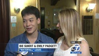 Bie Sukrit, Emily Padgett & Waterfall the musical on ABC7 News…