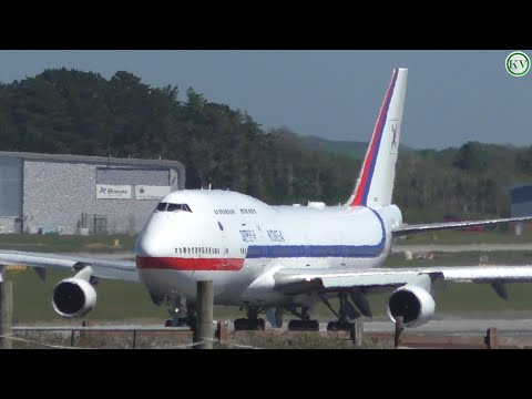 South Korean President Moon Jae-in Departs Newquay Airport