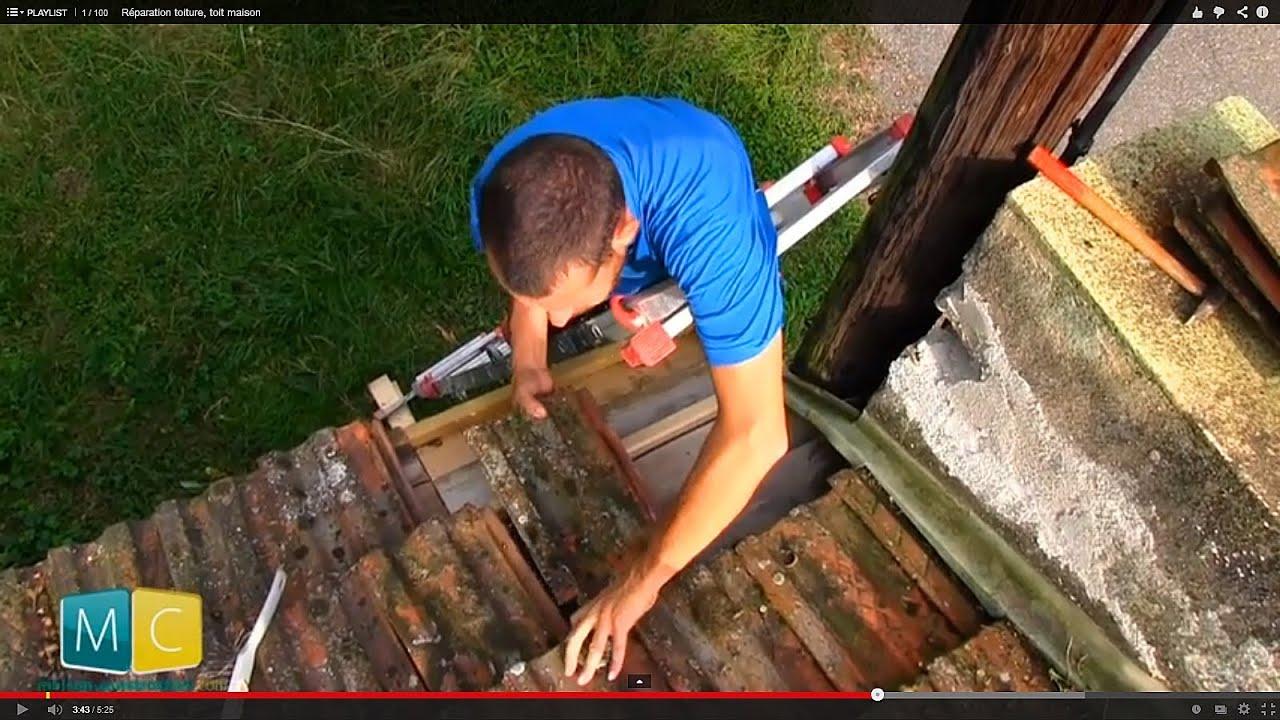 R paration toiture toit maison youtube - Poser des tuiles sur un toit ...
