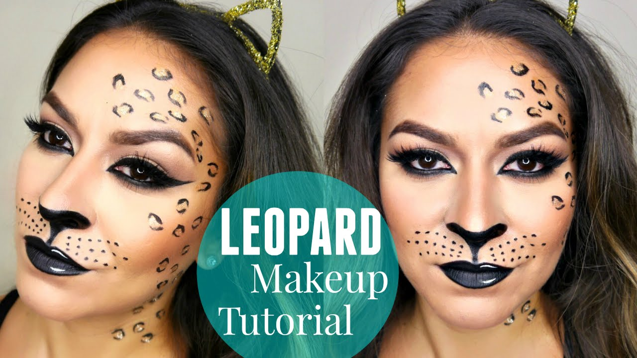 Halloween Make Up Anleitung Sexy Leopard Cheetah Makeup Tutorial Halloween Makeup Tutorial