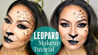 Sexy Leopard/Cheetah Makeup Tutorial | Halloween Makeup Tutorial(Hey Beauties!! I wanted to do a fun, sexy Halloween makeup tutorial that can easily be done as a last minute costume idea if needed! I hope you enjoy this sexy ..., 2015-10-01T05:51:32.000Z)