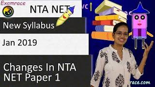 Changes in NTA UGC NET JRF Paper 1 Syllabus - Jan 2019 (Important Topics)