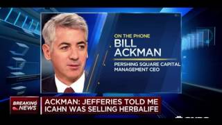 Bill Ackman Discusses Buying Carl Icahn's Herbalife Stake (FULL INTERVIEW)