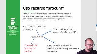 Uso de planilhas - Recurso PROCV ou PROCH