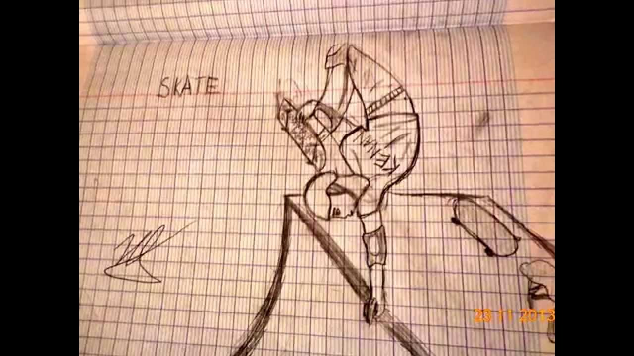 Dessin de skate youtube - Dessin skateboard ...