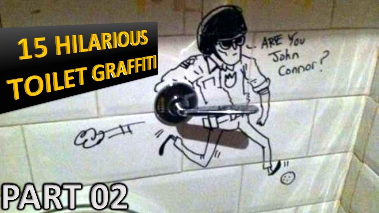 Funny Bathroom Wall Graffiti 15 hilarious bathroom writings | funny toilet graffiti!!! part 02