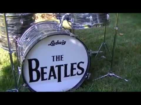 Ludwig Oyster Black Pearl Ringo Starr Beatles Style Drum Kit Walk-around