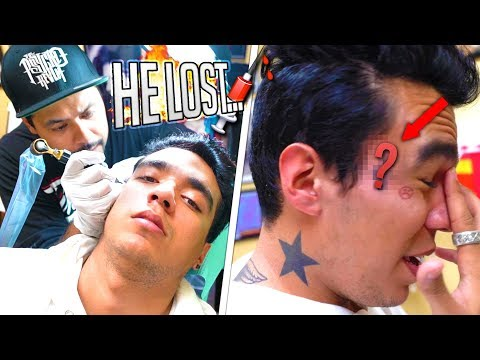 GETTING A FACE TATTOO OVER LOSING A BET.. *freakout*