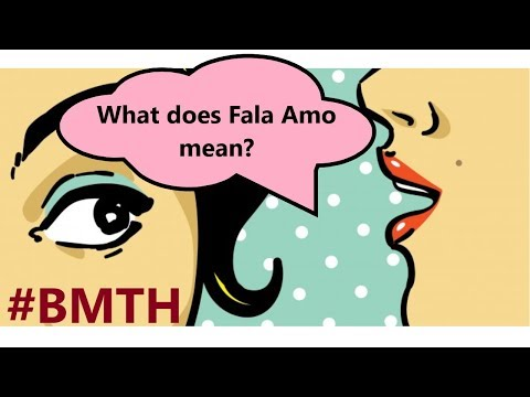 Fala Amo - meaning of the phrase from BMTH song