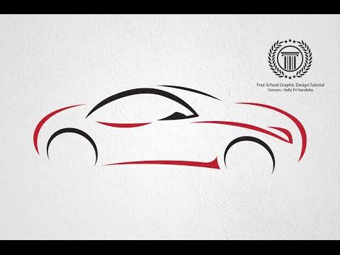 How to design logo in illustrator - Create a Car Logo Design   No CorelDraw And Photohop