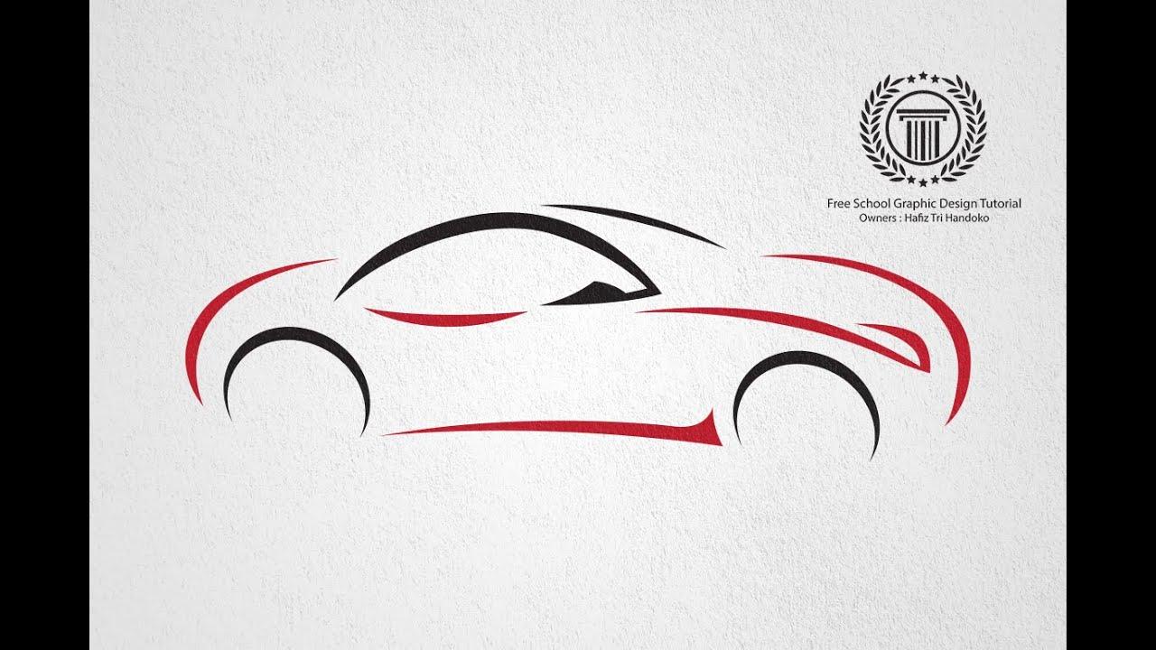 How to design logo in illustrator - Create a Car Logo Design | No ...