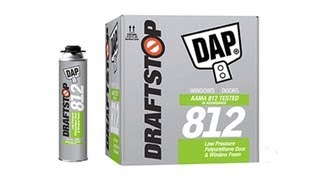 How to Use DAP DRAFTSTOP 812 Door and Window Foam Sealant