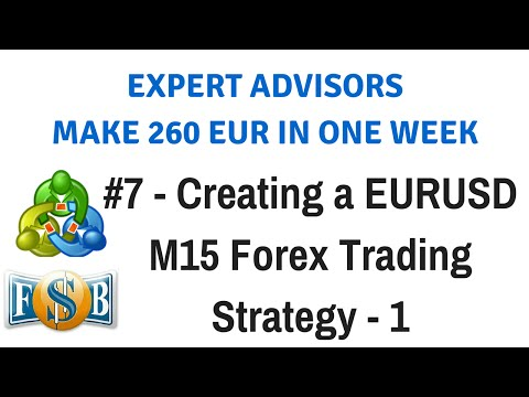 Part 7 - Creating A EURUSD M15 Forex Trading Strategy - 1 | Create & Trade Expert Advisors