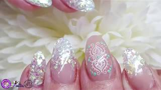 Acrylic Nails   Redesign & Repair   Mirror Shard Glitter   Moyou Stamping
